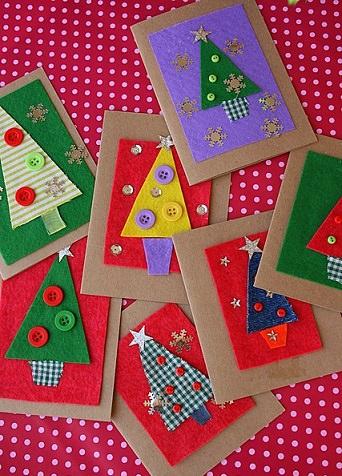 Ideas de tarjetas de Navidad caseras