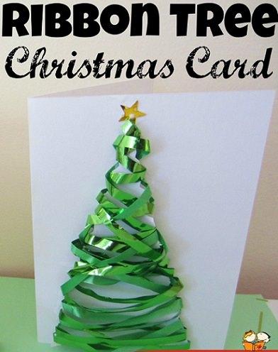 de postales de Navidad hechas a mano por niños