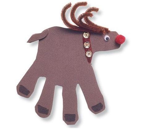 Ideas de tarjetas de Navidad caseras reno