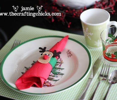servilleteros de fieltro para navidad