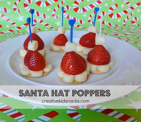 aperitivos de navidad fáciles sombreros de papá noel