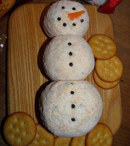 canapés originales navidad 3013 muñeco de nieve