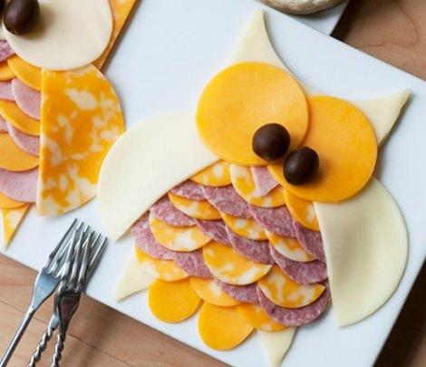 sandwiches con formas para cumpleaños