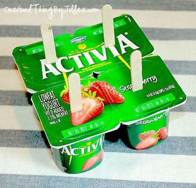 helados caseros hechos con yogures