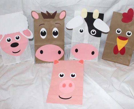 Bolsitas de cumplea os de animales de la granja - Regalos para fiestas de cumpleanos infantiles ...