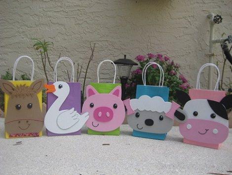bolsitas de cumpleaños de animales