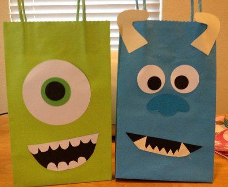 bolsitas de cumpleaños de monstruos