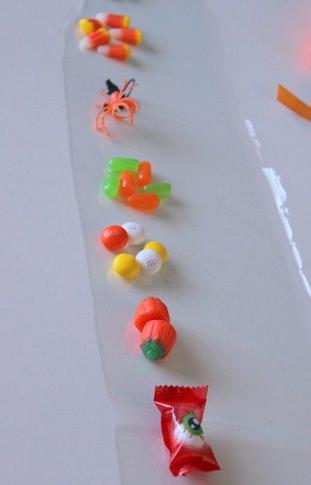 collar de gominolas para halloween