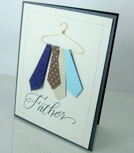 postal casera para el día del padre