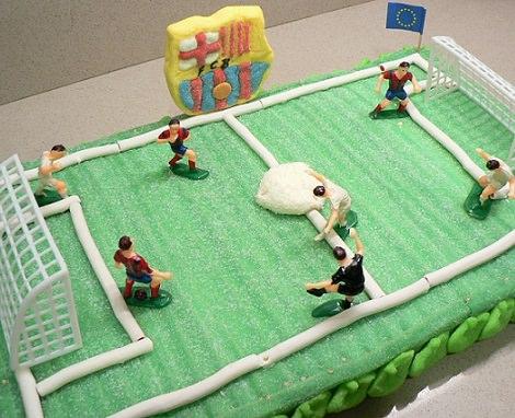 tarta de gominolas de futbol
