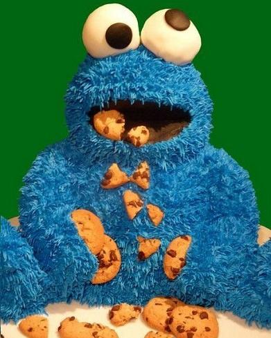 torta de monstruo de las galletas