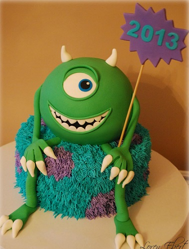 tarta de micke de monstruos sa con fondant
