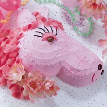 tarta infantil con forma de pony