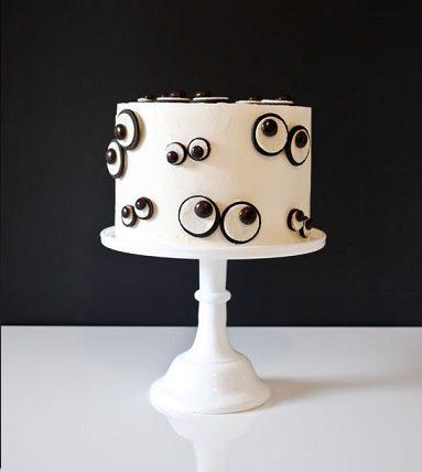 tartas originales para Halloween con ojos