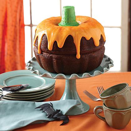 tartas originales para Halloween calabaza